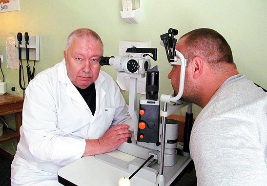 The patient's examination in the Department of Microsurgery of Inflammatory Pathology of the Eye and their Consequences